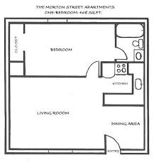 Simple Bedroom House Plans   One Bedroom Home Plans        Simple Bedroom House Plans   Small One Bedroom House Floor Plans