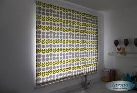 Patterned Blinds For Kitchen Patterned Roman Blind In A Kitchen Harmony Blinds Of Bolton And