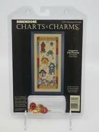 Details About Dimensions Charts Charms Charming Welcome Birdhouses Birds Cross Stitch 1996