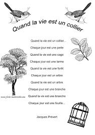 Poésie En Maternelle Comptine Prevert Jacques Belles Citations