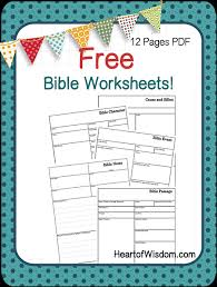 Free Bible Study Worksheets And Printables