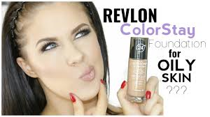 revlon colorstay foundation for oily skin first impression review