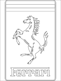 Coloring Pages Coloring Pages Ferrari Logo Printable For Kids