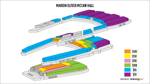 Mccaw Hall Seattle Seating Chart Marion Oliver Mccaw Hallseating Chart