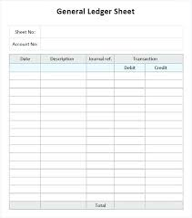 Sample Account Ledger Template 7 Free Documents Download In