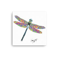 terrific dragonfly wall decor art by gogimogi design on canvas digital print modern 3d