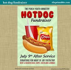 Hot Dog Fundraiser Dinner Bbq Invitation Poster Spring