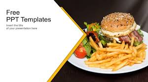 Free Food Powerpoint Templates French Fries And Burger Background Powerpoint Templates_best