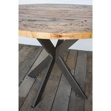 modern pedestal table  reclaimed round table  kitchen