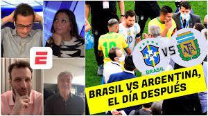 Brazil vs Argentina. The CONMEBOL ...