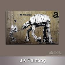 home decor custom picture of banksy abstract paintnig canvas artwork for living room wall hanging art