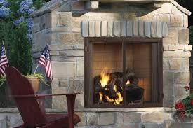 image of wood burning outdoor fireplace units