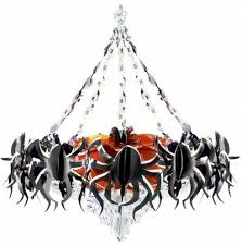 spiders on the chandelier