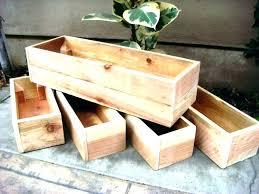 planter boxes box design ideas modern concrete hanging large wood for long wooden planter