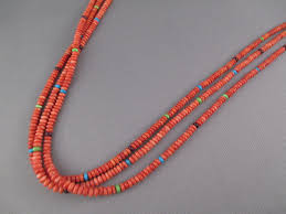 long spiny oyster s necklace with accents by native american jewelry artist desiree yellowhorse 1 300