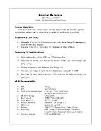 Vlsi Design Engineer Resume Cover Letter For Resume