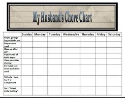 Empty Chore Charts Husband 39 S Family Chore Charts Chore