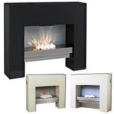 free standing fire surround white electric mdf fireplace flicker stand alone flame suite efficient wood stove