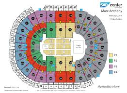 Sap Concert Seating Chart Marc Anthony Sap Center