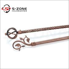 Copper Curtain Rod Modern Wrought Iron Window Curtain Accessory Copper Curtain Rod