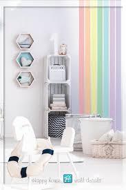rainbow stripe wall decor pastel