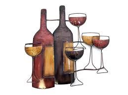 metal wall art brown wine bottle scene for most recently released wine bottle metal wall