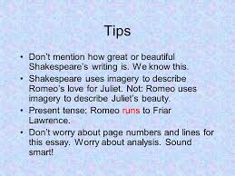 paragraphs on romeo and juliet ppt 2 tips