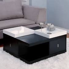 Amazon.com: Mareines Black Coffee Table With Serving Trays: Kitchen U0026 Dining