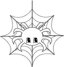 Small Picture Scary Spider On A Web Coloring Page Cute Spider Pinterest