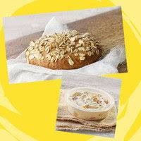 sprouted grain bagel flat reduced fat roasted vegetable medley cream cheese
