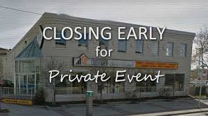 Closing Early Sign Template Early Closing Contempa Carpet Company