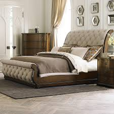 Image of: King Upholstered Sleigh Bed Ideas