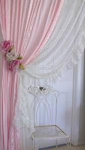 pink and white drapes . Shabby Chic CurtainsPink Bedroom CurtainsPink  Sheer CurtainsBurgundy ...