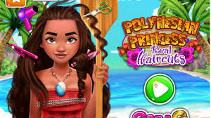polynesian princess real haircuts baby games disney s game 2017 hd