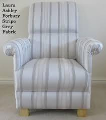 Laura Ashley Bedroom Chairs Laura Ashley Forbury Stripe Dove Grey Fabric Chair Nursery Silver