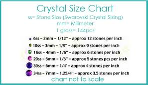 Sues Sparklers Size Chart Metals And Crystals