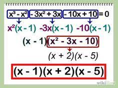 How To Factor A Cubic Factor A Cubic Polynomial Faktorizimi I Trinomit Math Math