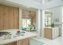 bleached oak cabinets bleached oak cabinets and quartz countertop