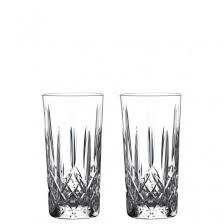 waterford crystal set of 2 gin journey lismore hi ball glasses