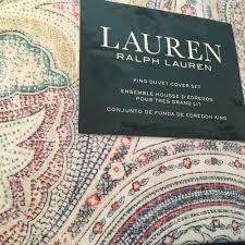 details about ralph lauren boho paisley king duvet cover 3pc set multicolor bohemian free ship