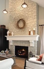 Just painted fireplace rock white.
