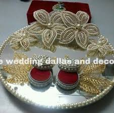 Saree Tray Decoration Retailer of Engagement Ring Platter Saree Tray by Indore Wedding 96