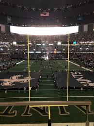 Saints Superdome Virtual Seating Chart Mercedes Benz Superdome Section 201 Row 2 Seat 1 New