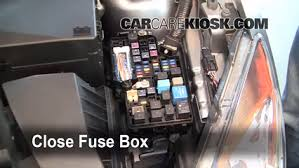 replace a fuse mazda mazda i l cyl 6 replace cover secure the cover and test component