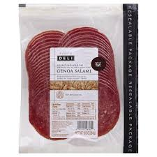 publix deli genoa salami presliced reduced fat