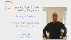 making your living as a technical writer awp career services web making your living as a technical writer awp career services web series