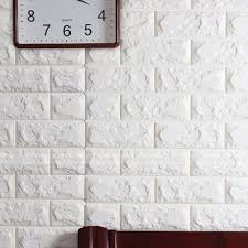 white 3d bricks seft adhesive wall sticker soft foam panels wallpaper decor art in wall stickers from home garden on aliexpress alibaba group on camo wall art self stick with white 3d bricks seft adhesive wall sticker soft foam panels