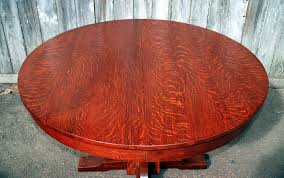 detail excellent quarter sawed white oak in table top