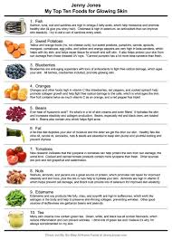 my top ten foods for glowing skin
