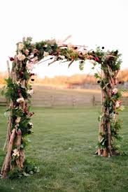 rustic wedding decor idea a wood ceremony arch consisting of Wedding Backdrops Nj rustic wedding decor idea a wood ceremony arch consisting of branches, greenery and jewel toned flowers sterlingbrook farm events in pittstown, nj wedding backdrops ideas